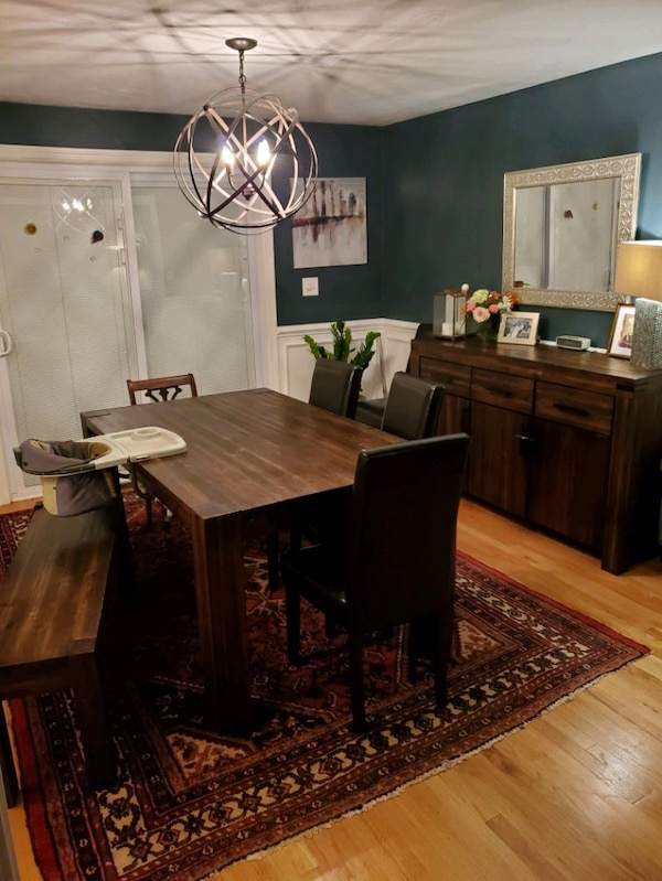 Rustic Dining Table W Bench Sideboard Buffet