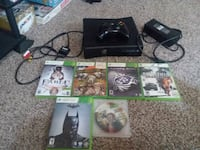 black Xbox 360 console with controller and game ca Nashville, 27856