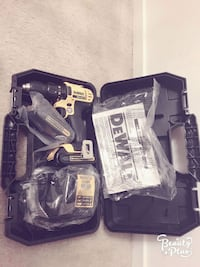 black and yellow DEWALT cordless hand drill with case Reston, 20191