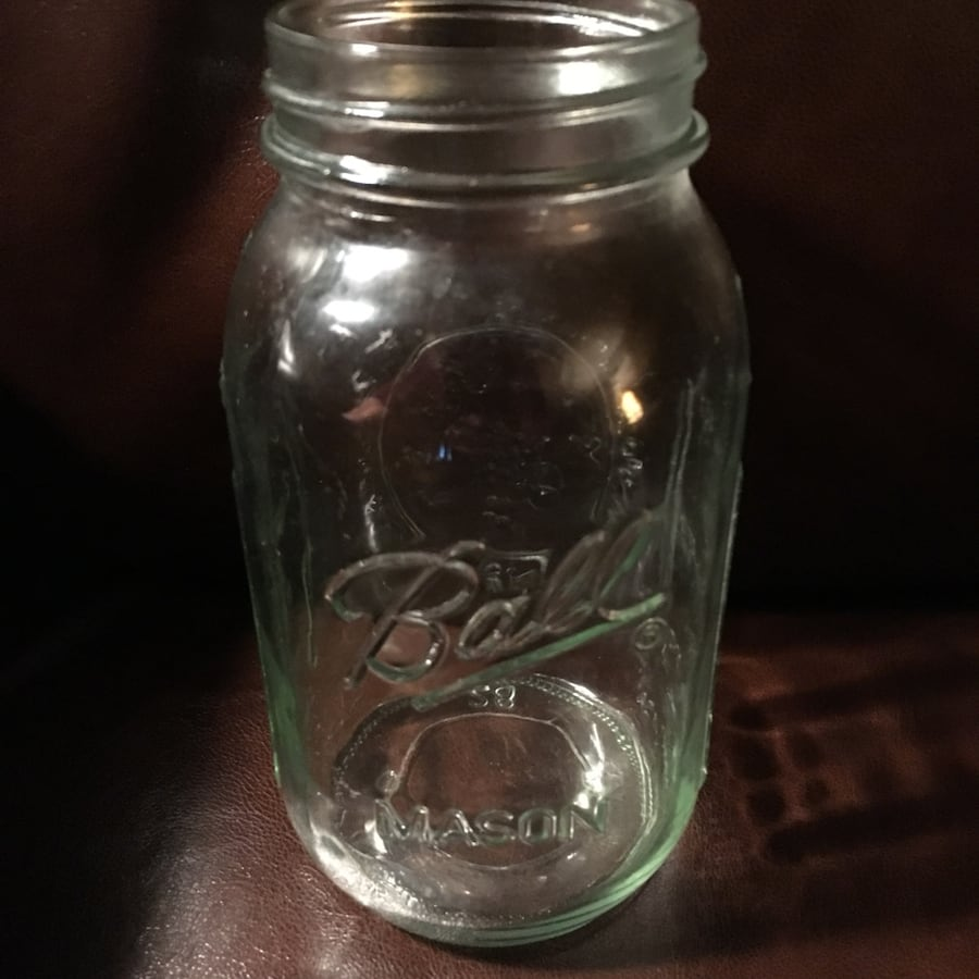 Clear glass ball mason jar