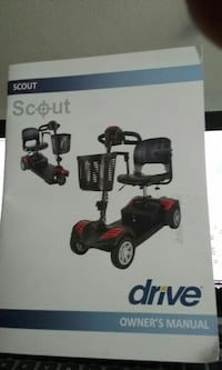 black and red Scout mobility scooter drive owner's