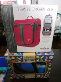 NEW TRAVEL ORGANIZER AND SOUP AND SALAD CONTAINER BUNDLE.