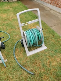 100 ft water hose with cart