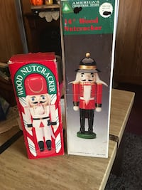 """14"""" & 10"""" hand painted wood nutcracker soldiers Baltimore, 21224"""