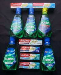 Colgate Total Toothpaste and Scope Mouthwash  Hyattsville, 20785