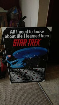All i need to know about life i learned from Star Trek with black frame Calgary, T1Y 5A3