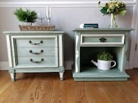 Vintage Nightstands - painted cottage shabby chic