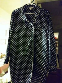 Large. black and white polka dot zip-up jacket Silver Spring