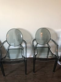 Grey acrylic ghost chairs set of 4 Nashville, 37203