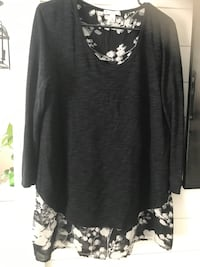 Women's Layered Dressy Blouse XL One Piece