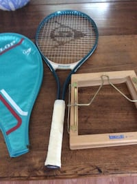 white and black tennis racket and teal bag Kitchener, N2H 1T5