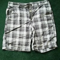 white and gray shorts