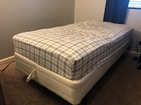 white and gray plaid bed mattress Bakersfield, 93313