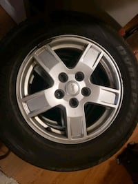 """Tires. Bolt pattern 2x127  17"""" rims. Very good condition, all weather. Toronto, M9M 2X3"""
