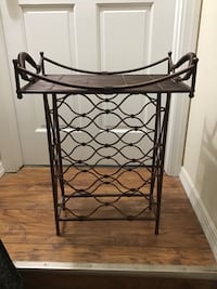 Wine rack with table tray
