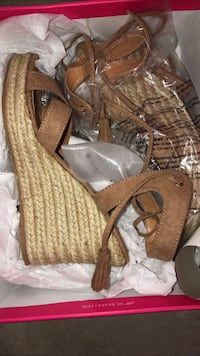 pair of brown leather open-toe heeled sandals Hartford, 06114
