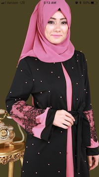women's purple and black floral traditional dress Chicago, 60659