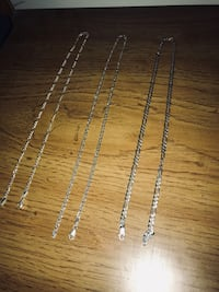 3 silver chains (Italy 925) good condition  Taché