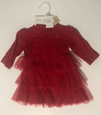 0-3m red baby dress, perfect for xmas 424 mi