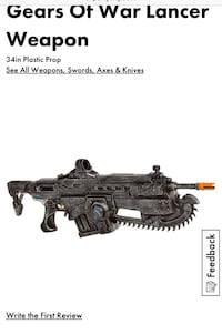 . Gears of war lancer costume prop. Check my other gears of war ads. Markham, L6C