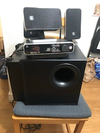 Black and gray home theater system Redwood City, 94065