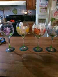 six assorted color wine glasses Abbeville, 70510