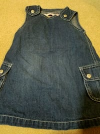 Denim baby jumper heart back sz 18-24m Howell