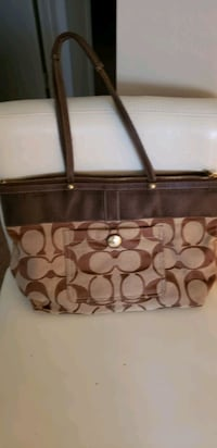 brown and tan Coach bag Wake Forest, 27587