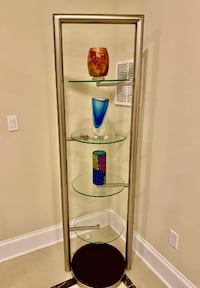 Five-level glass display cabinet