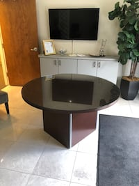 """54"""" Round Conference Table with Glass Top Tampa, 33624"""