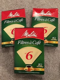 3 packs coffee filters x 40ct Silver Spring, 20905
