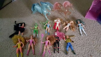 She-ra Figures And Castle