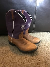 Girls Youth Old West Boots 2.5  Arvada, 80005
