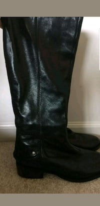 Saks 5th Ave Blk Leather BTK Boots, 8.5M Baltimore, 21208