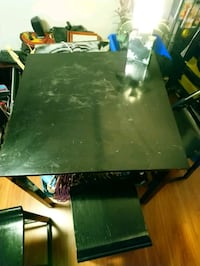 Black matching kitchen table and chairs