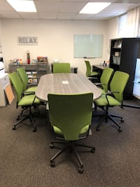Conference table and 6 chairs.  Like new! San Mateo
