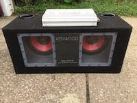 Kenwood 10 inch speakers and Ultra rare American Bass SQ480 Amplifier $200 SUPER FIRM Cleveland, 44111
