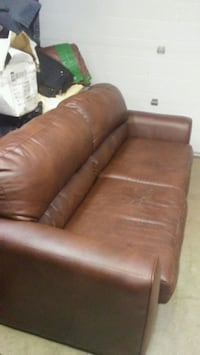 Leather Hide a Bed/Sofa and matching Loveseat Kelowna