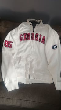 white and red Chicago Bulls zip-up jacket Cartersville, 30121