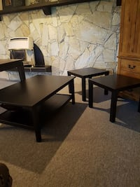 black wooden framed glass top table Pitt Meadows, V3Y 0A8