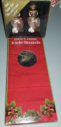 OWL ORNAMENTS & ICICLE STRANDS