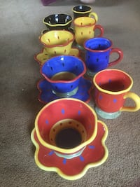 assorted colors ceramic teacup with saucer lot Manassas, 20109