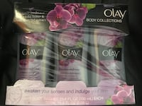 Oil of Olay Lusicous Embrace Set of 3 LARGE Bath Bidy Wash Bottles - SEALED IN BOX 7729 km