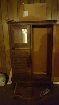 brown wooden cabinet with mirror Livingston, 70754