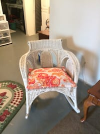 white wooden wicker armchair Manassas, 20110