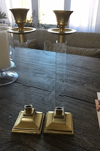 Gold and acrylic candle stick holders Ashburn, 20148