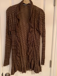 Brown open front sweater Oakville, L6L 4X4