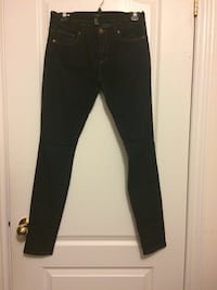 black denim fitted jeans