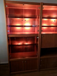 Teak Wall Unit with lights Germantown, 20876