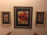 Framed Hibiscus Art Work – 3 Piece Grouping  Lansdowne